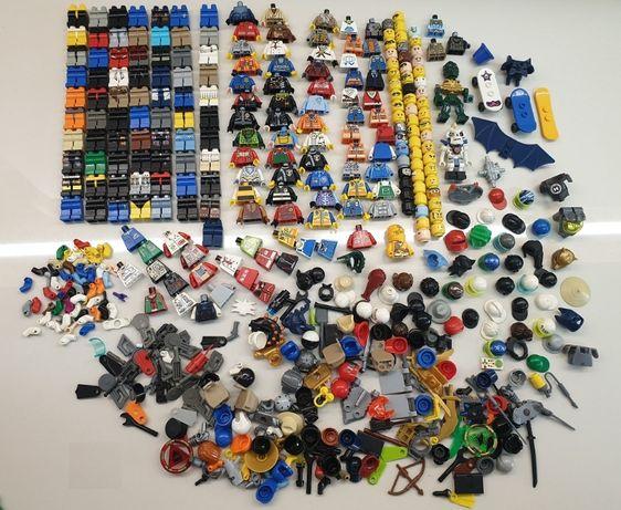 Lego figurki mix kilkadziesiąt sztuk+ akcesoria różne serie okazja