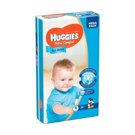 Подгузники для мальчиков Huggies Ultra Comfort 4 (8-14 кг), 66 шт.