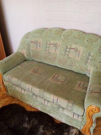 Sofa rozkładana i dwa fotele