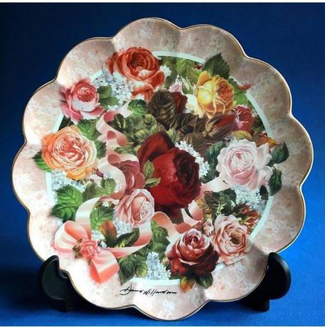 Тарелка коллекционная Victorian Rose Bouguet Англия