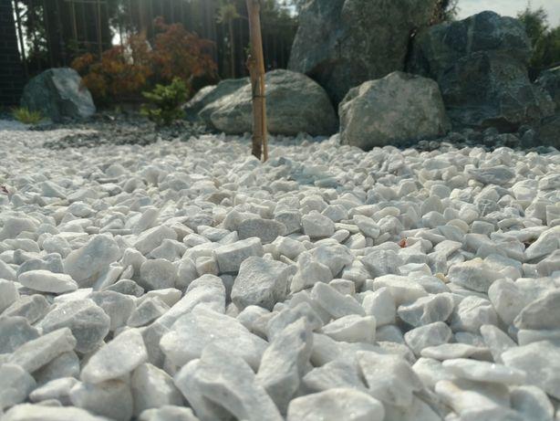 Grys Bianco Carrara biały kamień na ogród kora kamienna kostka brukowa