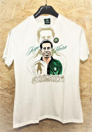 """Sporting T-shirt Jorge Vieira """"O Capitão Perfeito"""", nova"""