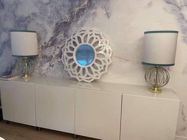 Espelho lacado branco novo