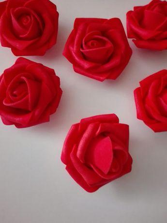 Róże piankowe 5 cm . Czerwone