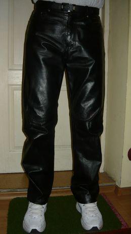 Spodnie Versace skóra skórzane 34 włoskie