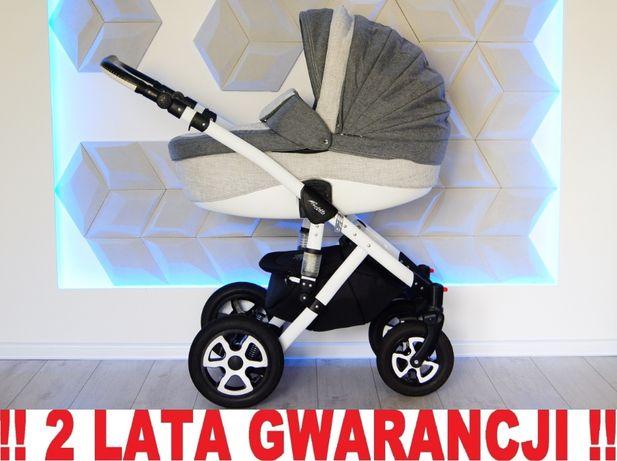 Wózek ADAMEX BARLETTA 3w1 - rewelacyjny, szary, nowoczesny. WYSYŁKA !!