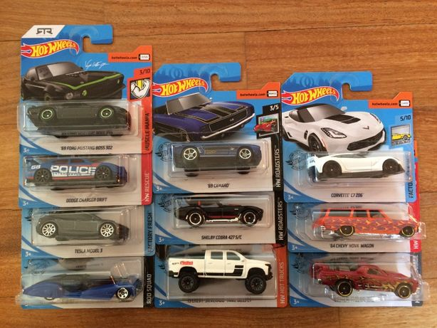 Hot Wheels Shelby Charger Tesla Camaro Mustang Corvette autka prezent