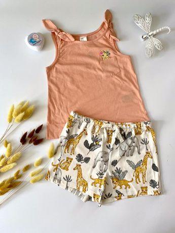 Майка и шорты для девочки (набор, комплект, костюм) H&M 86 см