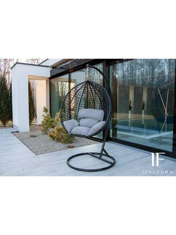 Fotel wiszący kokon bujany kosz ogrodowy huśtawka