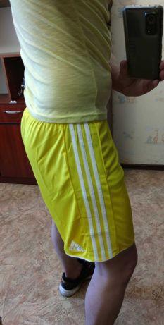 Мужские шорты Adidas оригинал спортивные жёлтые