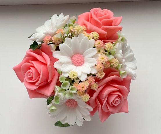 Красивые букеты цветов из мыла