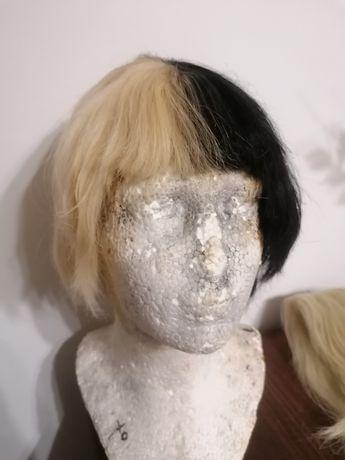 Dwukolorowa peruka Lacefront z ludzkich włosów