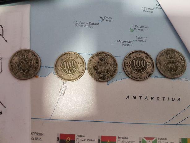 Moedas 100 Reis de 1900