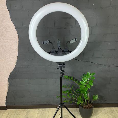Кольцевая лампа 56 см + штатив 2.1 метра