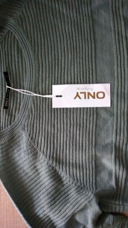 sweterek sweter dzianinowy zielony bluzka rozmiar S 34 ONLY nowy