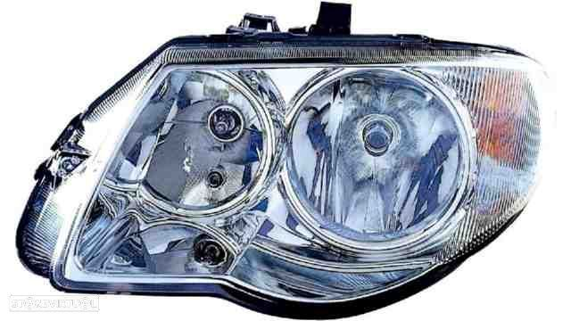 Farol Esquerdo Eletrico C/ Motor Chrysler Voyager / Grand Voyager 05-0
