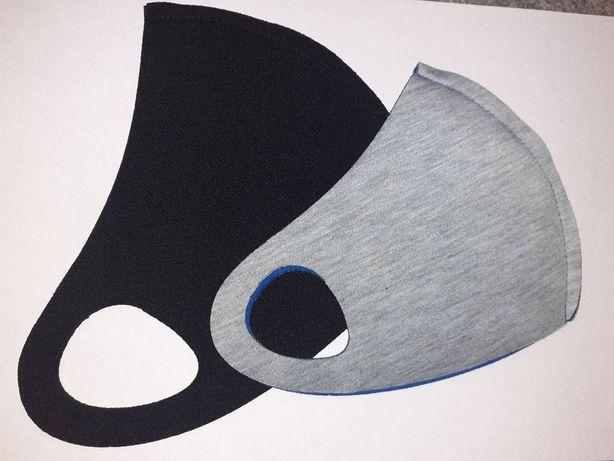 Защитная многоразовая маска для лица неопрен питта pitta черная синяя