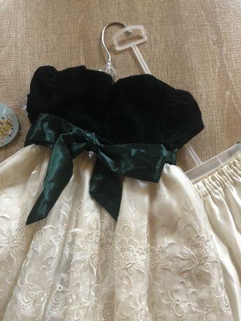 Платье бархат нарядное красивое с шортиками новое