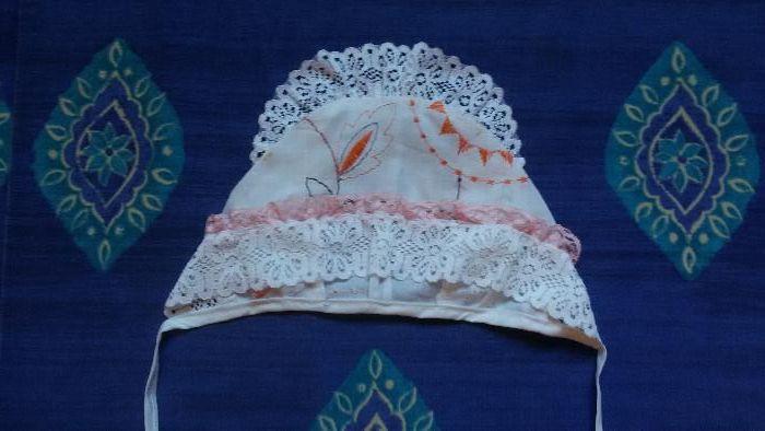 Шапочка 0 до 4 месяцев, хлопок, ручная работа, натуральная ткань Полтава - изображение 1