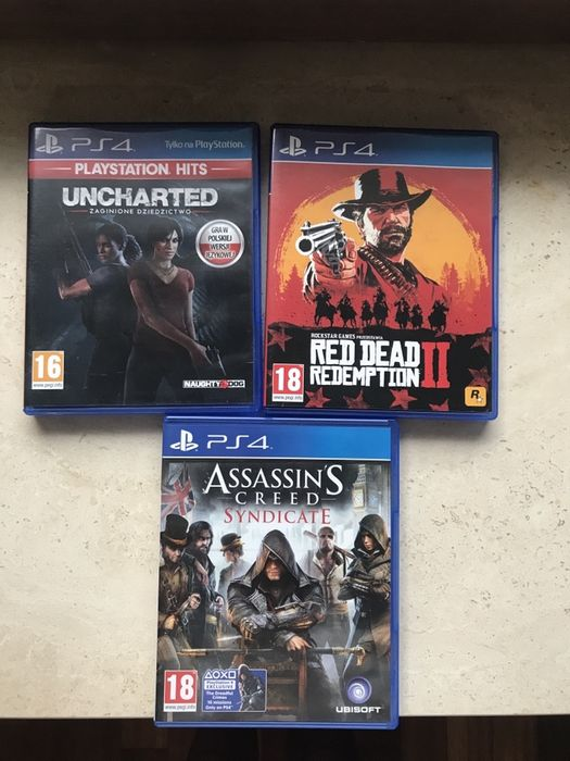 Gry PS4 Uncharted, Red dead redemption 2, assassins creed syndicate Magdalenka - image 1