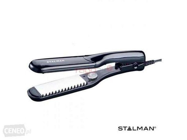 Czarna prostownica STALMAN włosy stylizacja prostowanie fryzura imprez