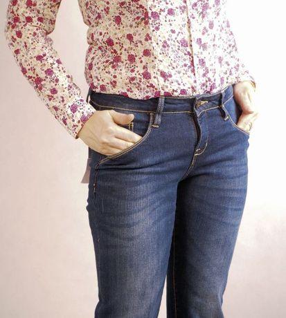 Nowe z metką Jeansy ze stretchem spodnie r. 38 M lee