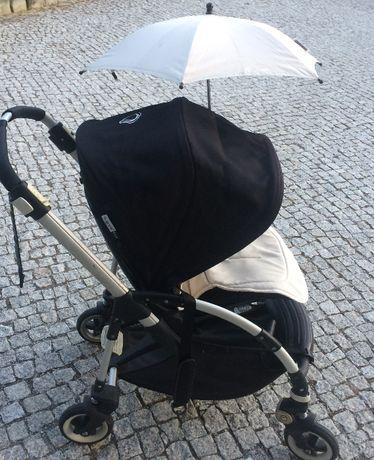 Wózek BUGABOO Bee + jasny materacyk +parasolka + folia przeciwdeszczow