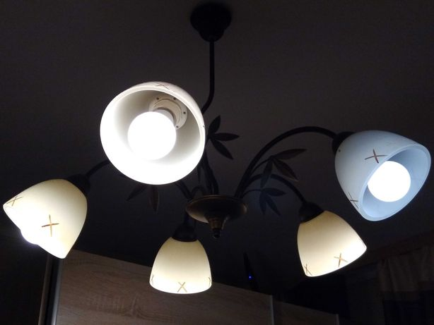 Lampę wiszącą pięciopunktową sprzedam