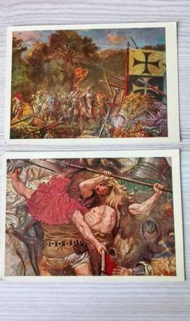 9 pocztówek / Jan Matejko / Arkady