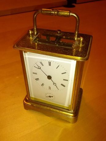 Pozłacany zegar Oficerski antyk BREVETE A PARIS 565 (Kareciak)