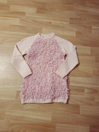 Теплая кофта свитшот свитер для девочки новый