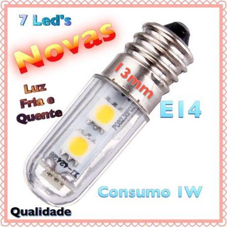 lâmpadas LED's E14 1w NOVAS