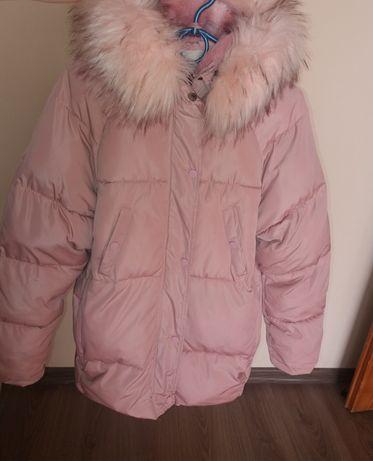Куртка + шапка зима на дівчинку
