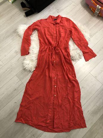 Длинное платье  рубашка с разрезами по бокам GAP
