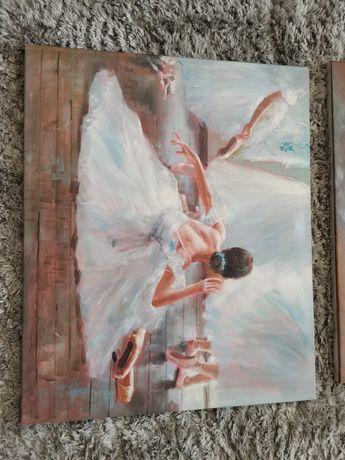 Lote telas óleo bailarinas