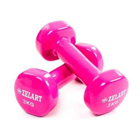 Гантели  для фитнеса  виниловые 2 кг