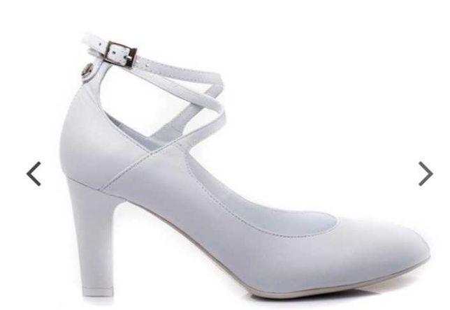 Buty ślubne KOTYL skórzane