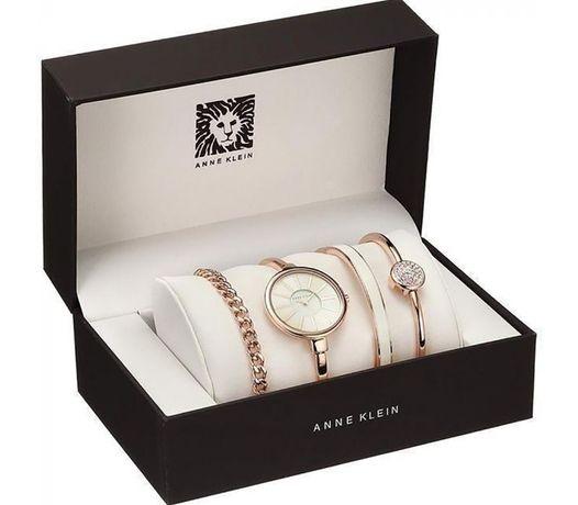 Подарочный набор часы с браслетами ANNE KLEIN(при покупке+подарок)