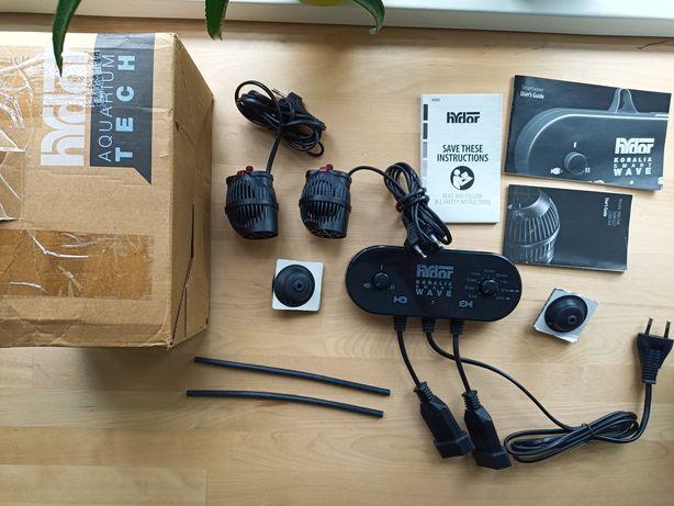 Kontroler Smartwave i dwie pompy Koralia HYDOR 1600