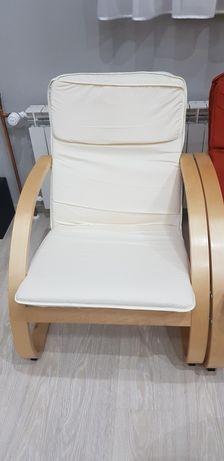 Fotele biały rudy