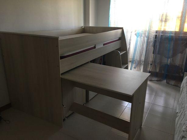 Combinado cama + movel + secretária