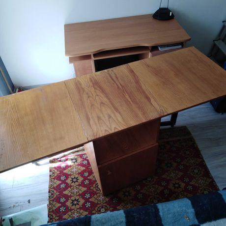 Biurko drewniane składane, nadające się także jako stół do warsztatu