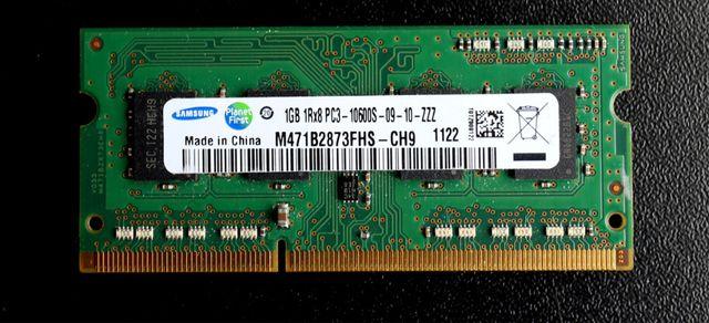 Память для ноутбука SO-DIMM Samsung DDR3 1GB, DDR2 1GB