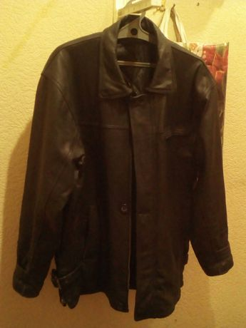 Кожаная куртка.зима