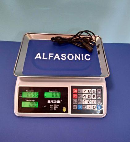 Торгові ваги Alfasonic 50 кг абсолютно нові Надійні та точні