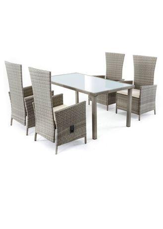 Stół + 4 lub 6 krzeseł (foteli) rozkładane!Technorattan,meble ogrodowe