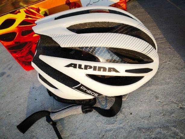 Kask alpina jak nowy biały 52-58 profesjonalny