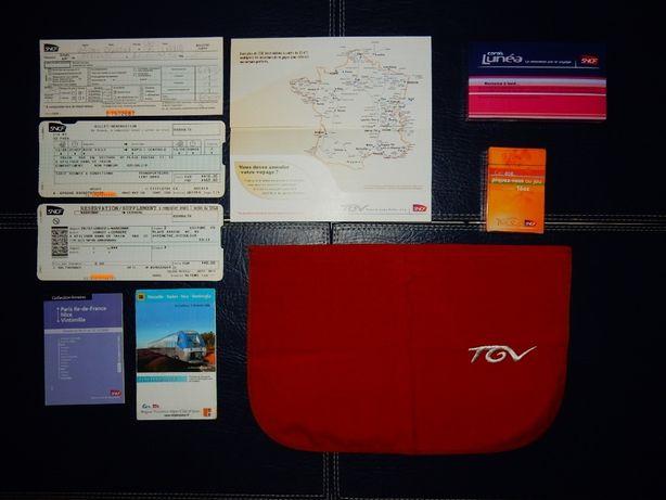 SNCF Zestaw biletów i gadżetów kolei francuskich