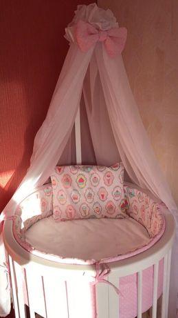 Детская Овальная кроватка(кровать трансформер)