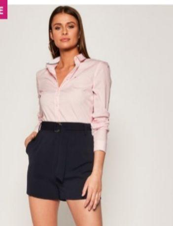 Tommy Hilfiger damska koszula rozmiar XS / S 34 / 36 prążki różowa róż